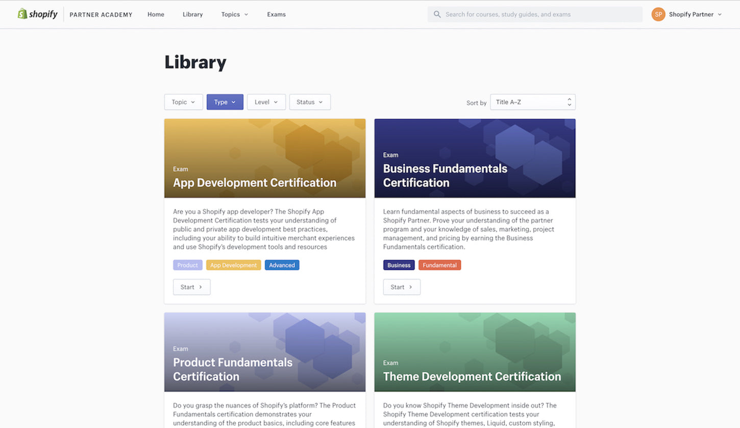 app-development-certification-library