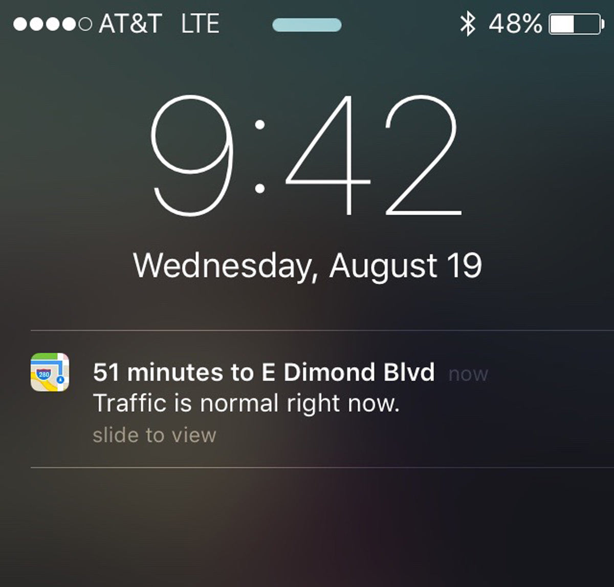 Apple maps Consider the user context