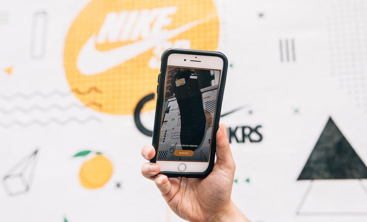 augmented reality design: nike