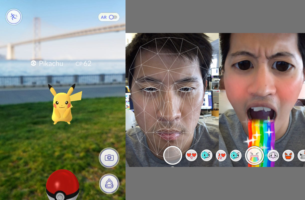 augmented reality design: pokemon