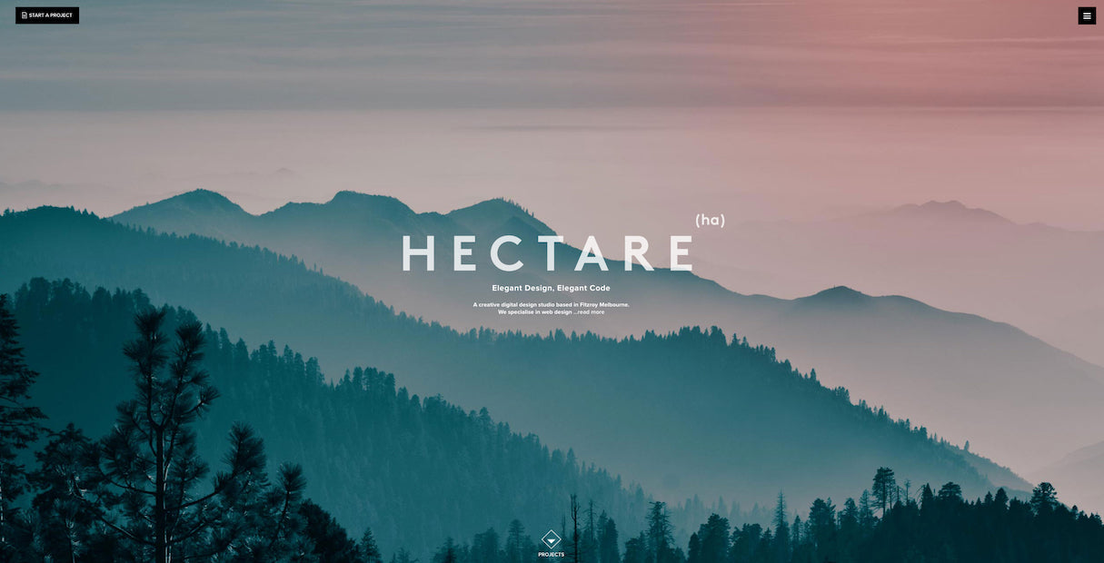 beautiful portfolio websites: Hectare agency portfolio design