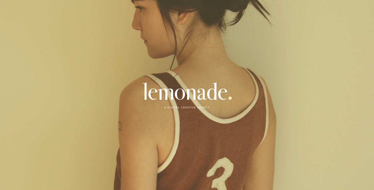 beautiful portfolio websites: Lemonade agency portfolio design
