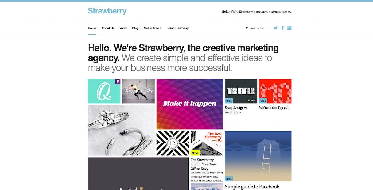 beautiful portfolio websites: Strawberry agency portfolio design