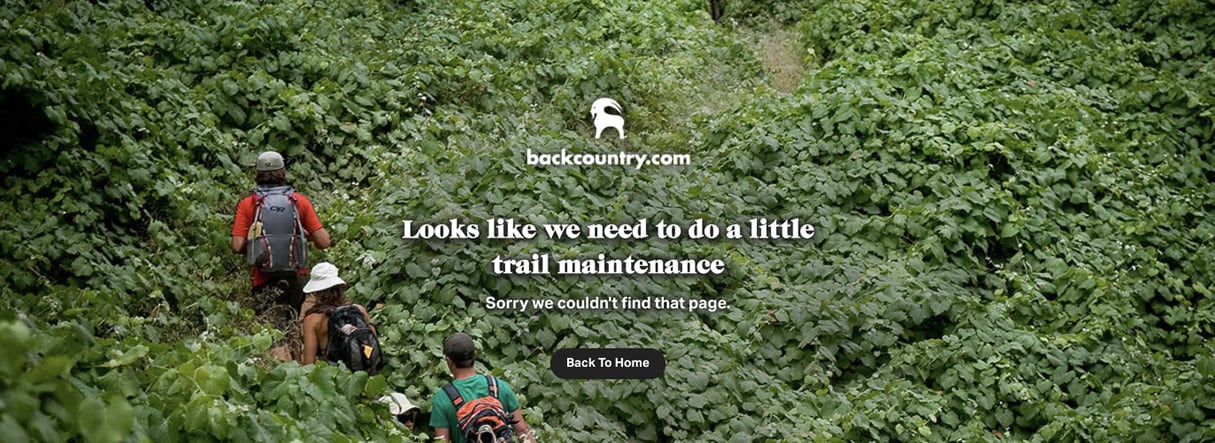 best 404 pages: backcountry