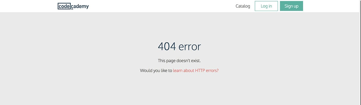 best 404 pages: codecadamy