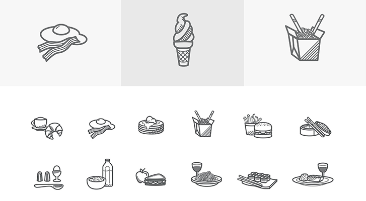 Best resources for downloading icon packs: Food Icons