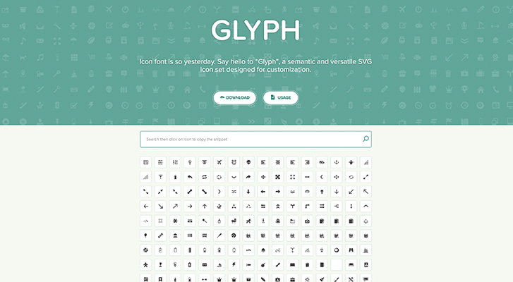 Best resources for downloading icon packs: Glyph