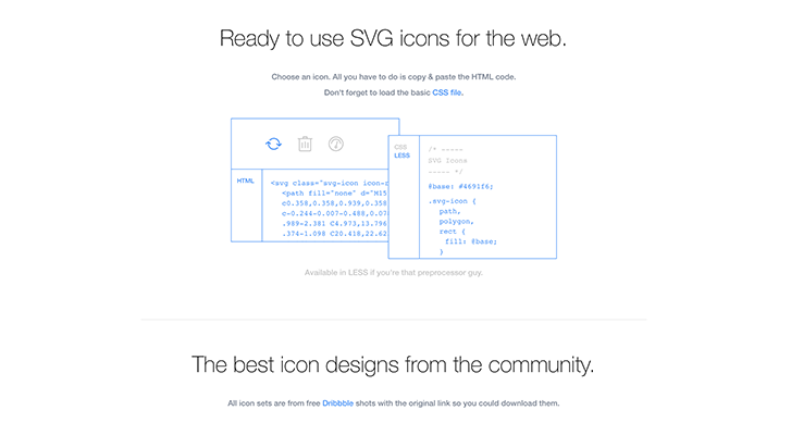 Best resources for download icon packs: SVG Icon