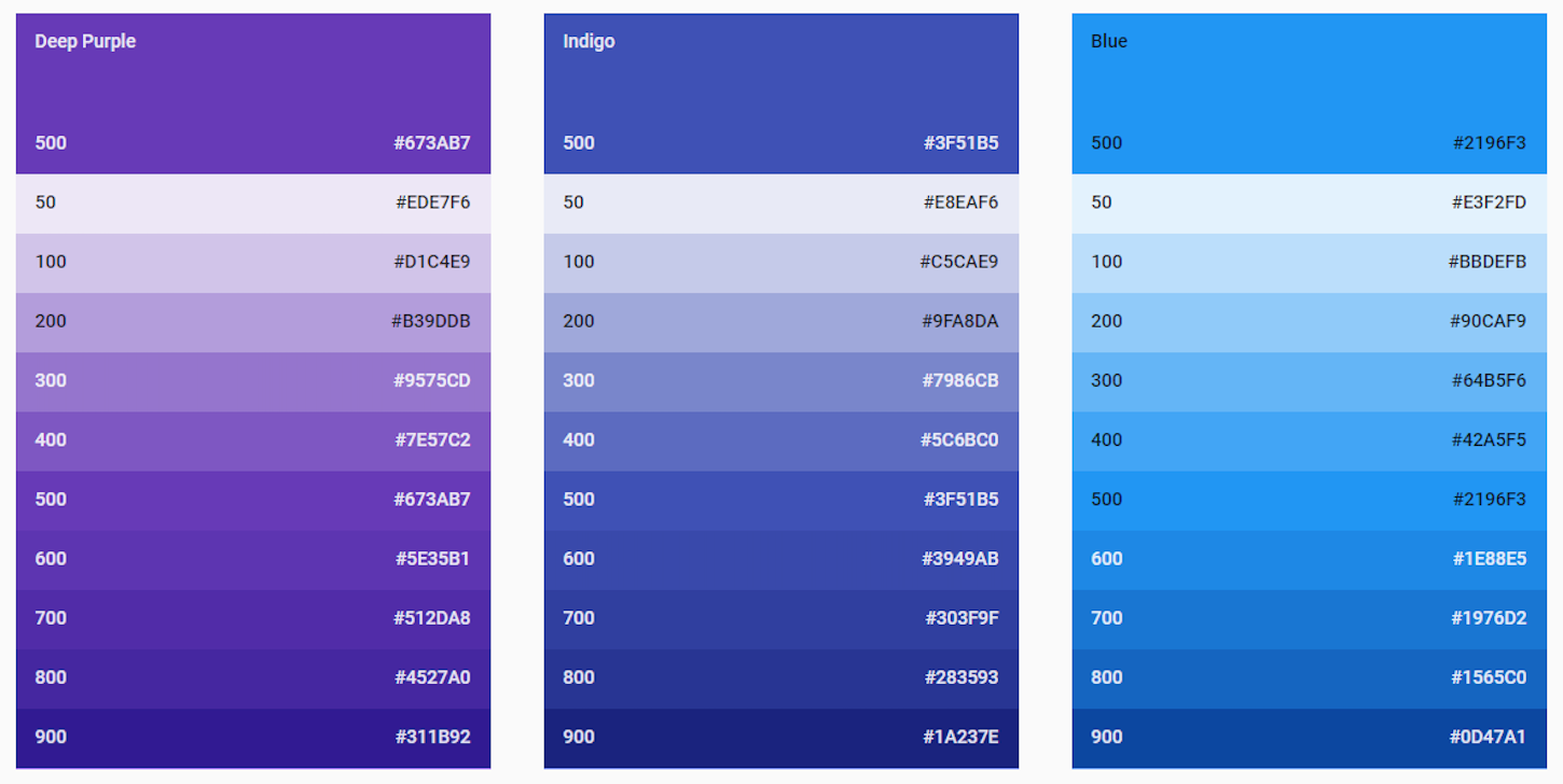 Best Website Color Schemes Material Design