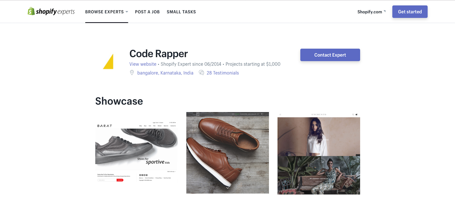 Code Rapper 2017: Experts profile