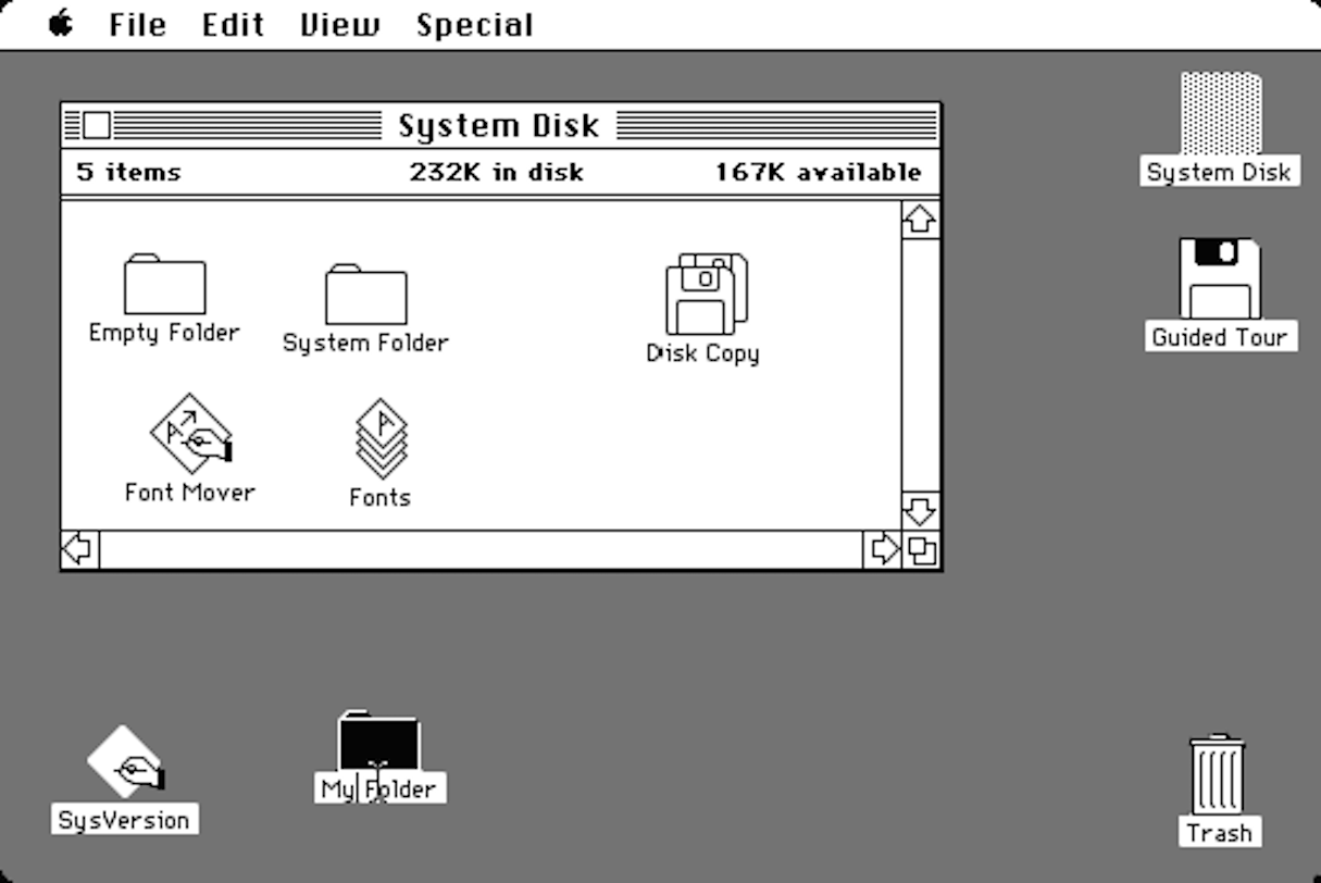 conversational interfaces: macintosh gui
