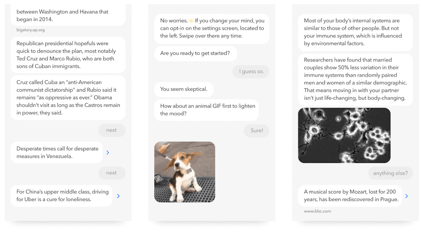 conversational interfaces: quartz