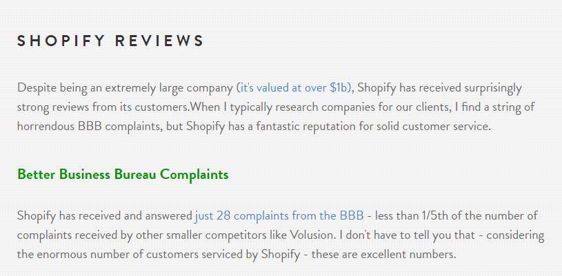 Creating a profitable affiliate blog post: Shopify reviews