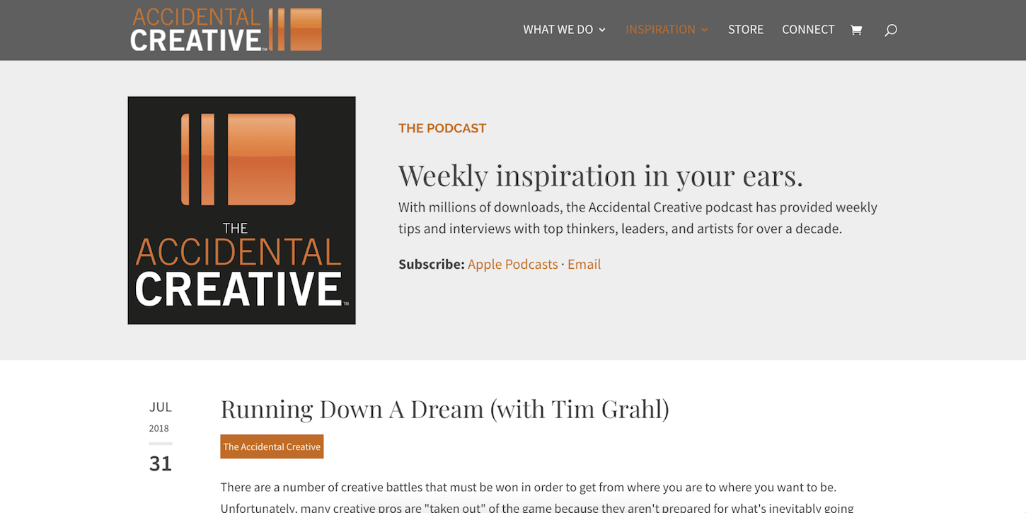 creative podcasts: the accidental creative