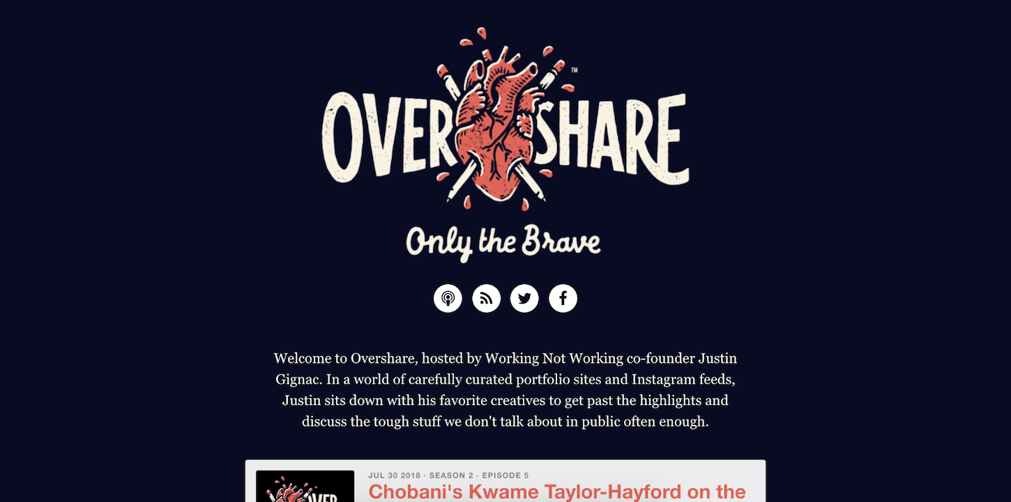 creative podcasts: overshare