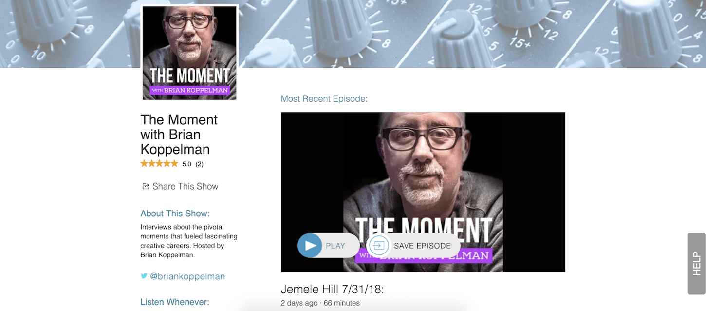 creative podcasts: the moment
