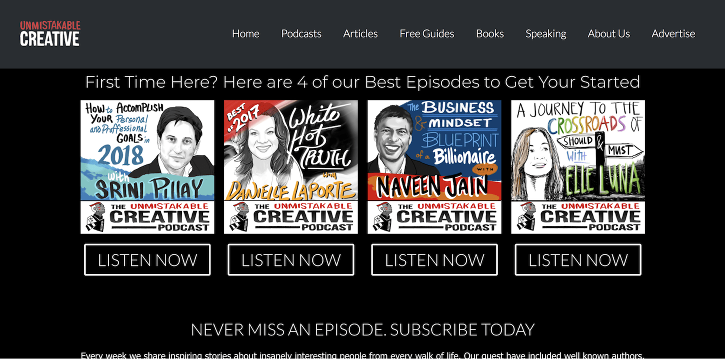 creative podcasts: the unmistakable creative