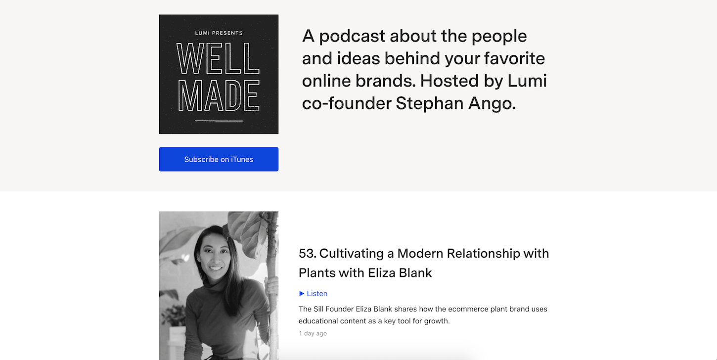 creative podcasts: well made