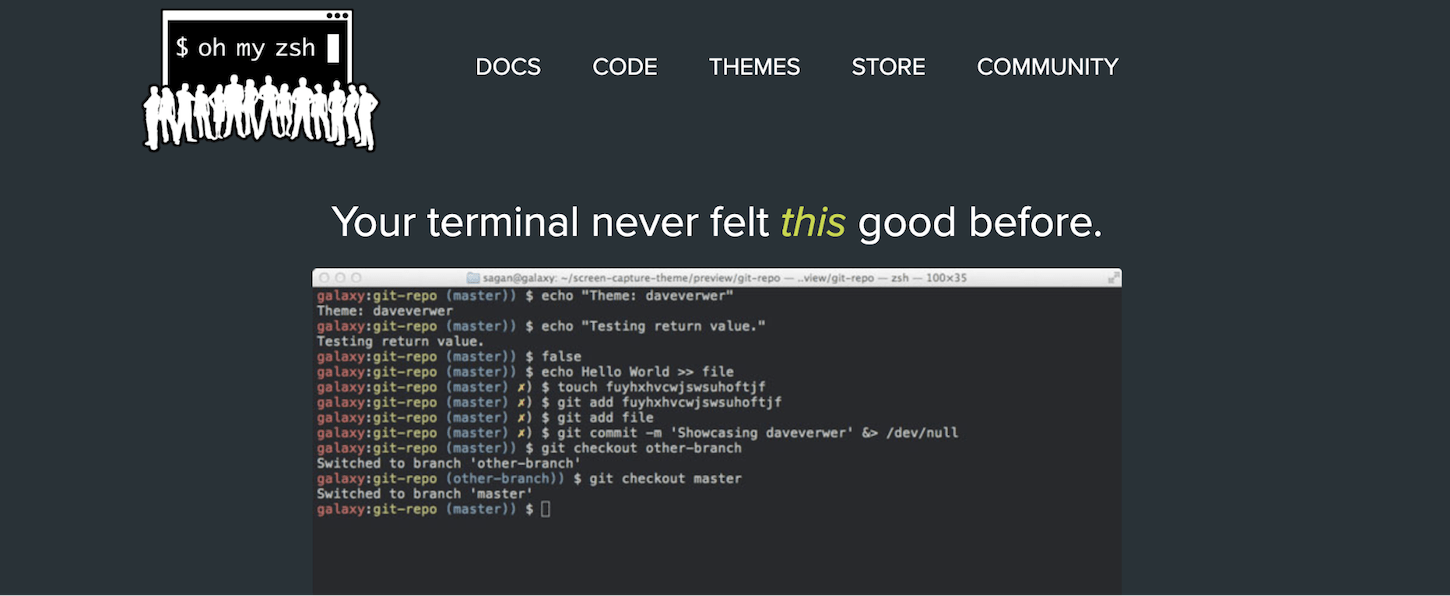 customize terminal: oh my zsh