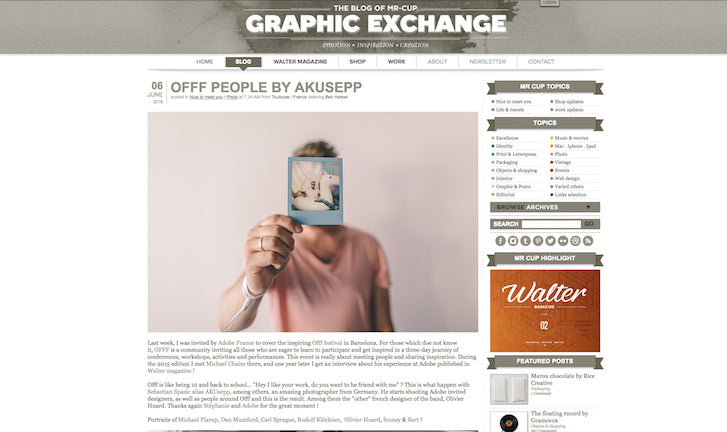 The Blog Of Mr. Cup   Graphic Exchange. Design Inspiration: ...