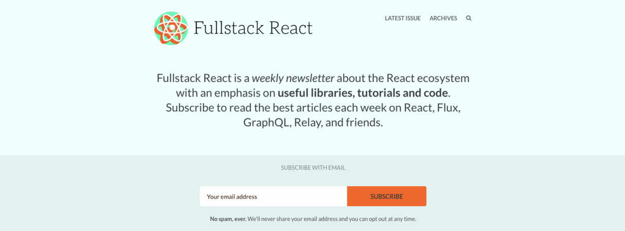 developer newsletter: fullstack