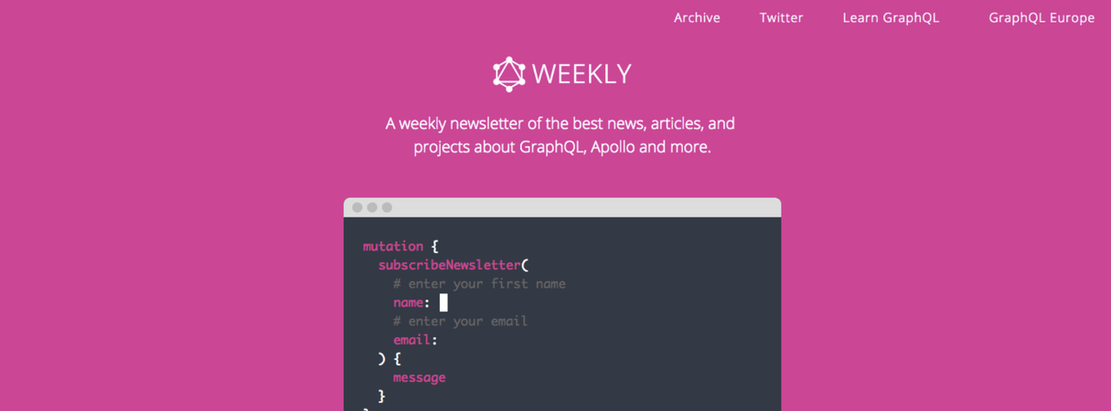 developer newsletter: graphql