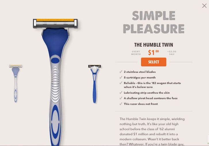 How to Design Product Pages That Convert: Dollar Shave Club
