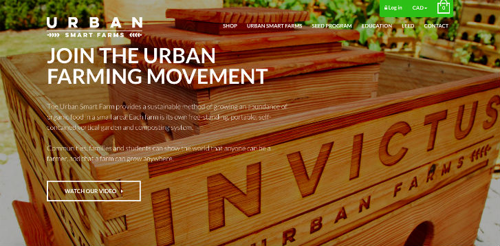 Ecommerce Design Awards - Invictus Urban Farms