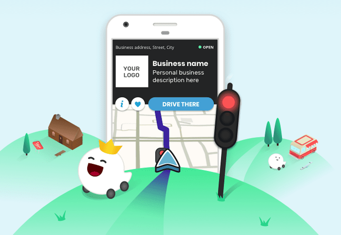 Ecommerce trends: mobile display of Waze, Googles navigation app