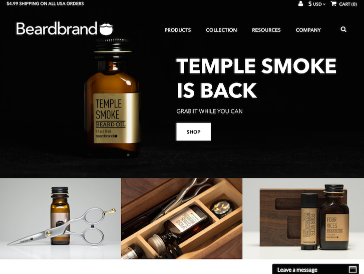 Ecommerce Website Design - Beardbrand