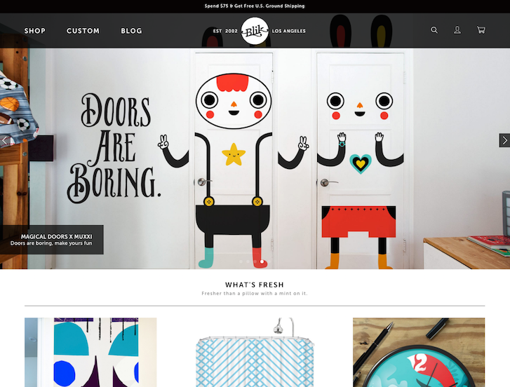 Ecommerce Website Design - Blik