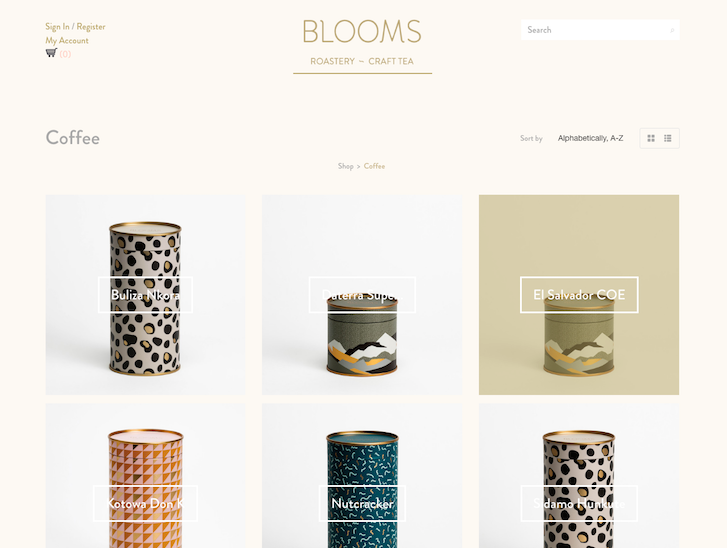 Ecommerce Website Design - Blooms