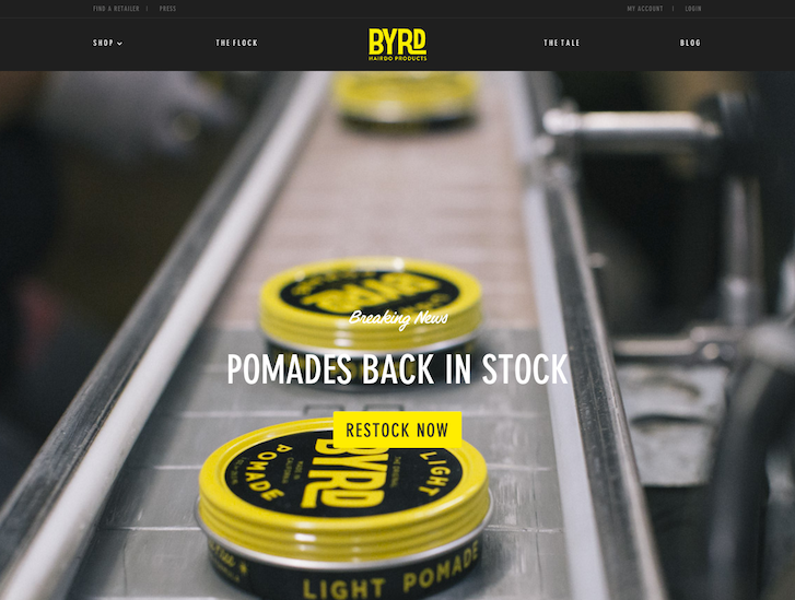Ecommerce Website Design - Byrd