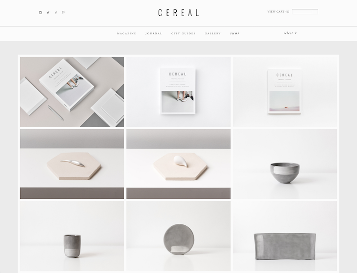 Ecommerce Website Design - Cereal