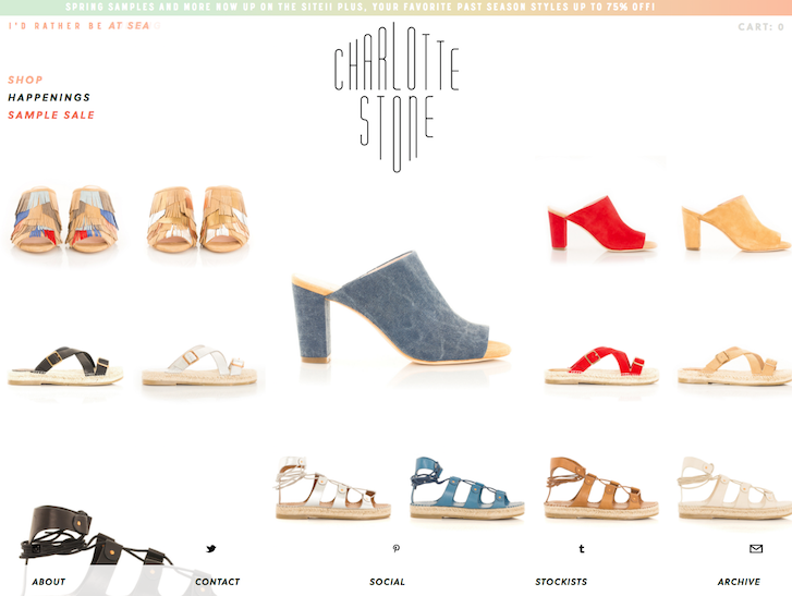 Ecommerce Website Design - Charlotte Stone