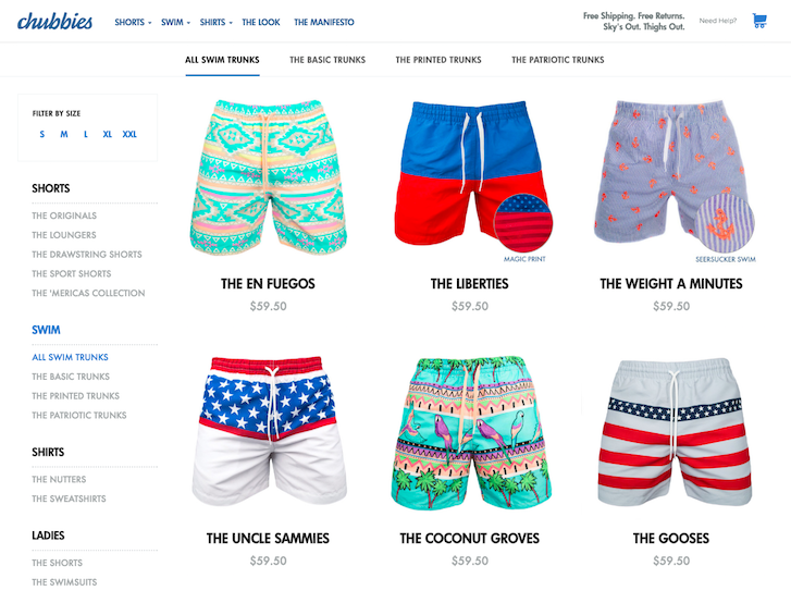 Ecommerce Website Design - Chubbies