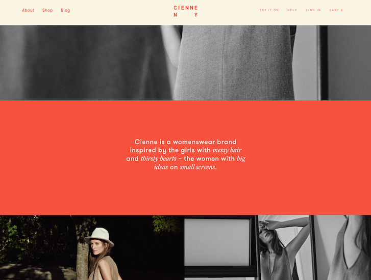 Ecommerce Website Design - Cienne