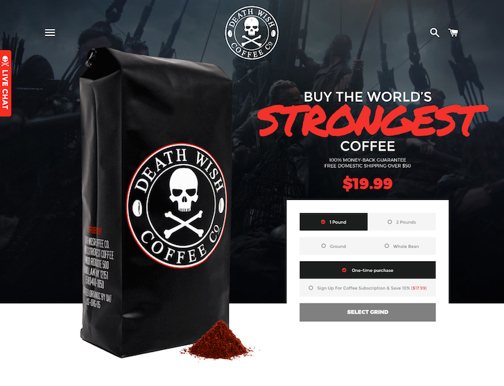 Ecommerce Website Design - Death Wish