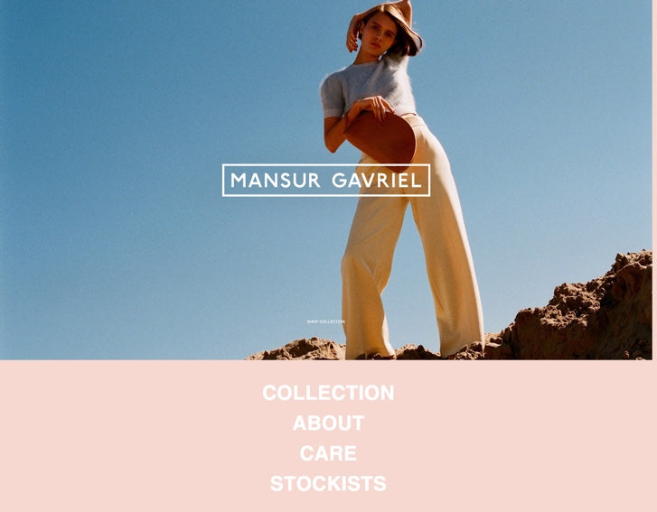 Fashion ecommerce website design - Mansur Gavriel
