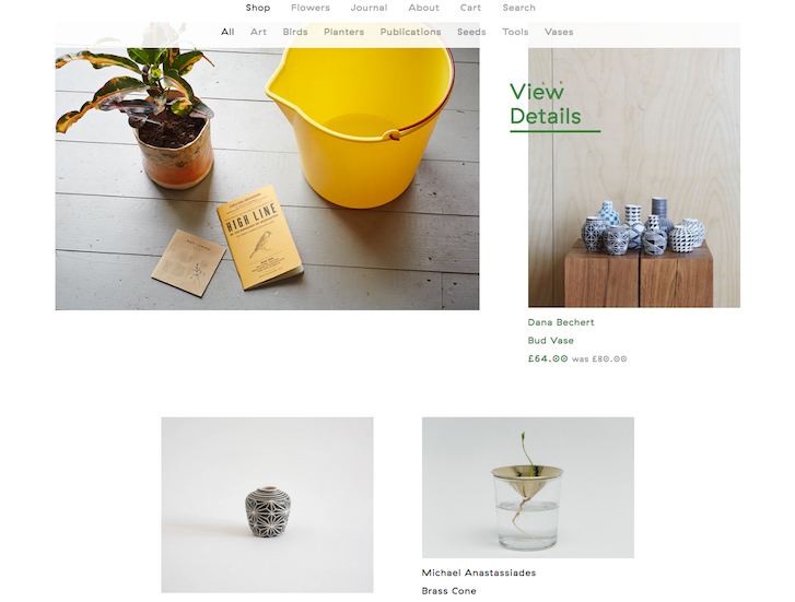Ecommerce Website Design - Garden Edit