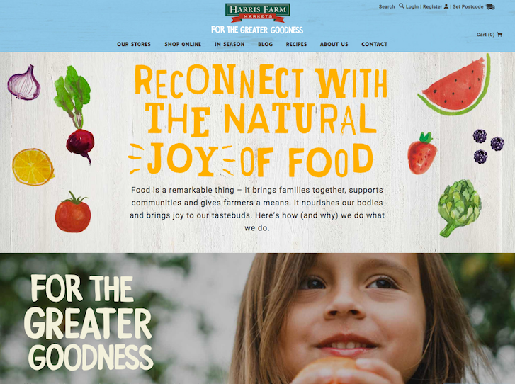Ecommerce Website Design - Harris Farms