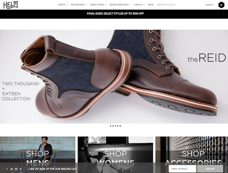 Ecommerce Website Design - Helm