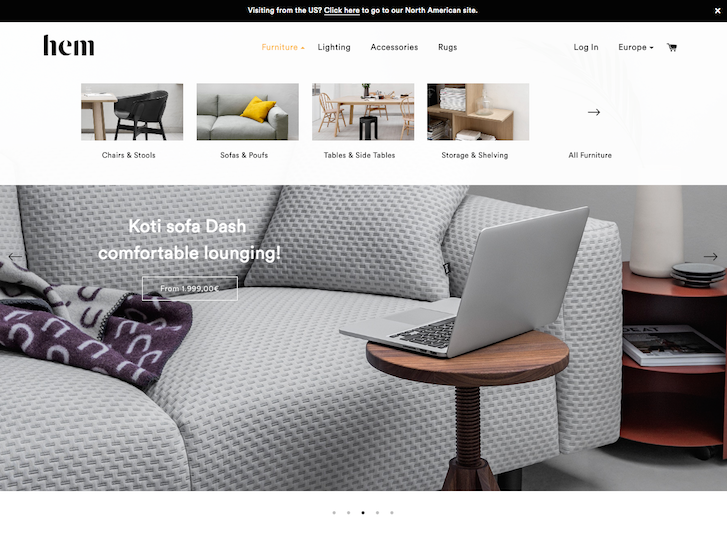 Ecommerce Website Design - Hem