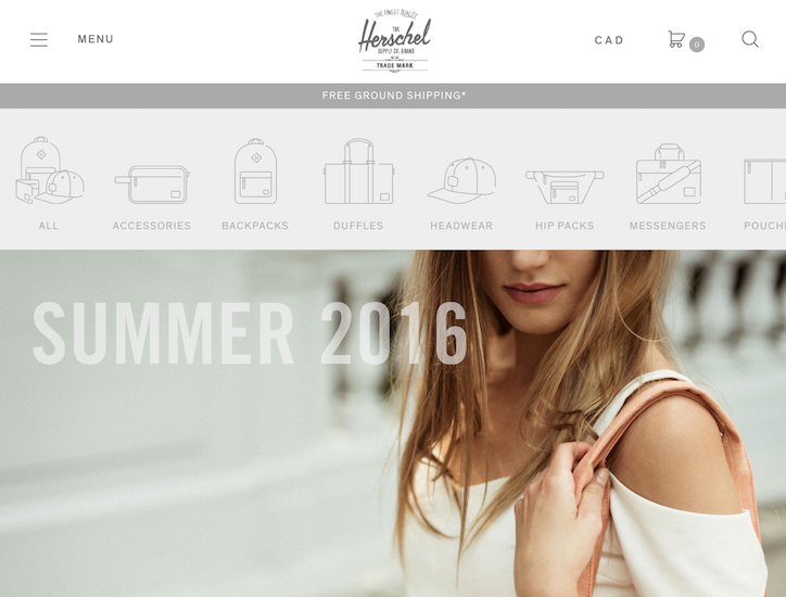 Ecommerce Website Design - Herschel