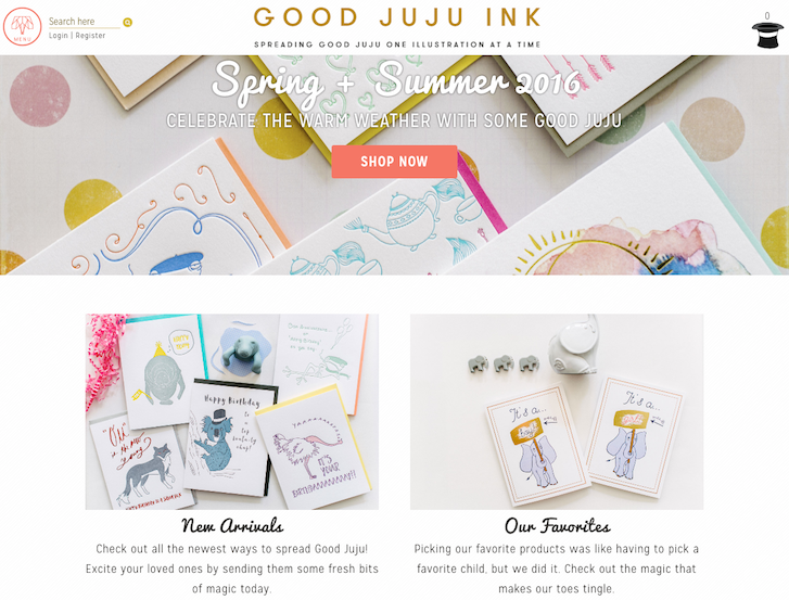 Ecommerce Website Design - Juju