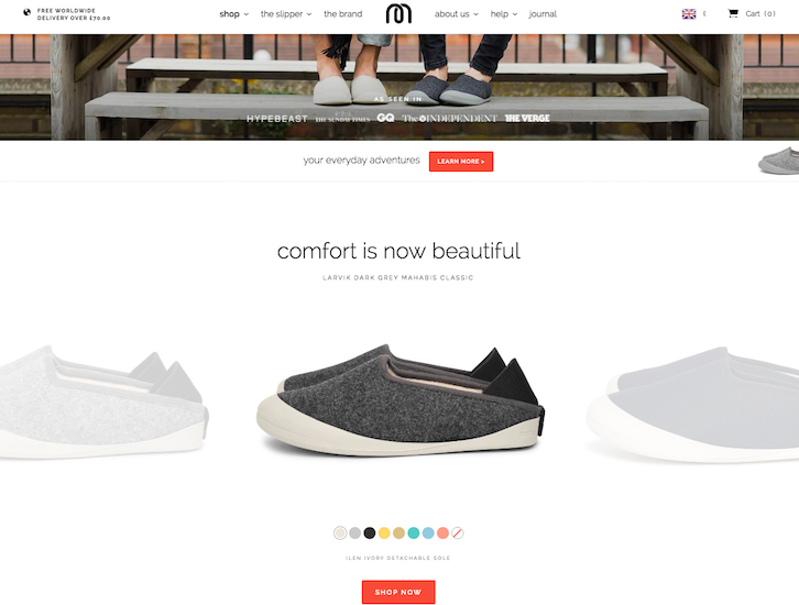 Ecommerce Website Design - Mahabis