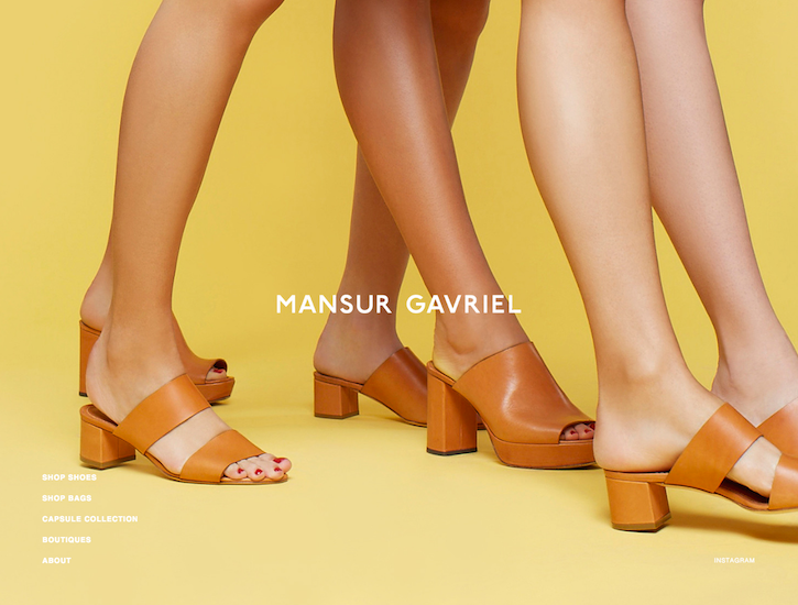 Ecommerce Website Design - Mansur Gavriel