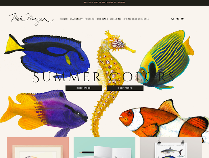 Ecommerce Website Design - Nick Mayer