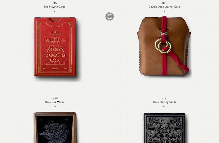 Ecommerce Website Design - Misc Goods