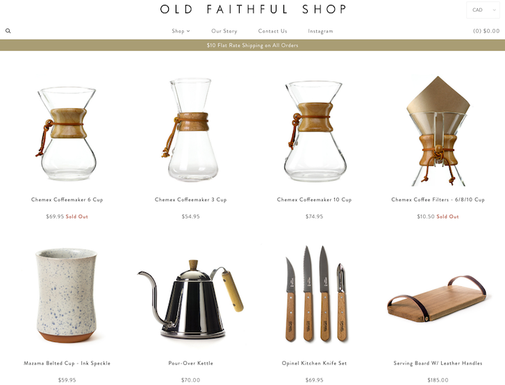 Ecommerce Website Design - Old Faithful